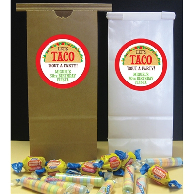 Taco Party Fiesta Theme Favor Bag
