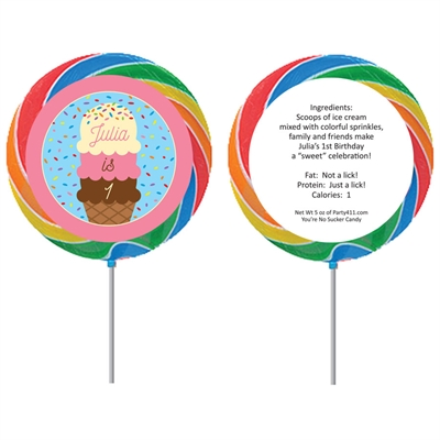 Ice Cream Theme Party Theme Lollipop