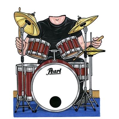 Drummer Lifesize Cutout