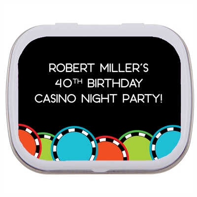 Casino Poker Chips Theme Mint Tin