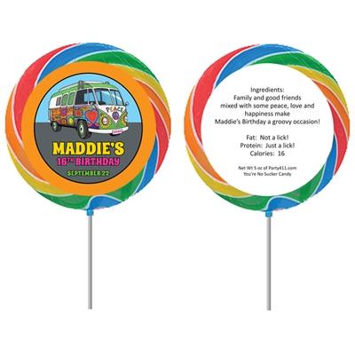 Hippie Bus Theme Custom Lollipop