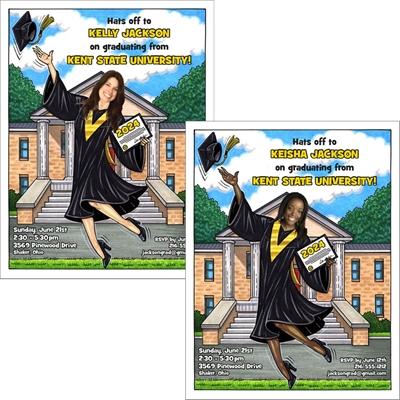 A Graduation ''Add a Face'' Invitation or Announcement, Female