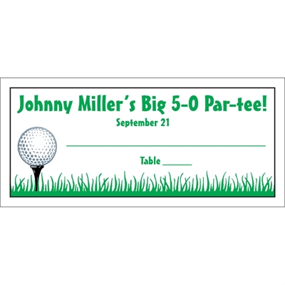 Golf Seating Card