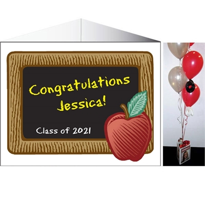 Graduation Party Blackboard Theme Centerpiece