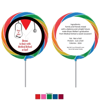 Graduation Doctor's Coat Theme Lollipop