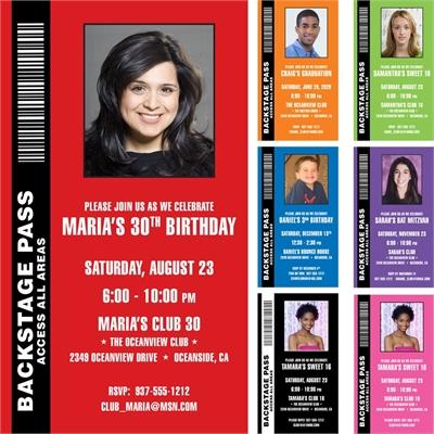 Backstage Pass Invitation, Photo