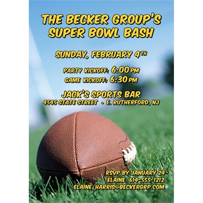 Football Bash Party Invitation