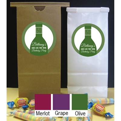Wine Theme Party Favor Bag