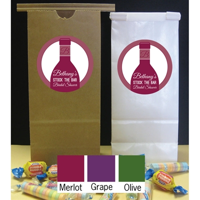 Wine Theme Shower Party Favor Bag