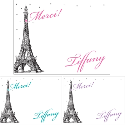 Paris Theme Thank You Note
