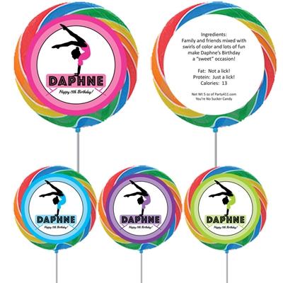 Gymnastics Theme Custom Lollipop