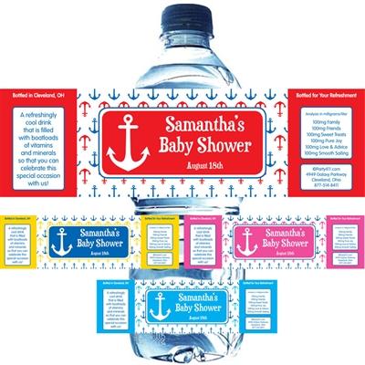 Anchor Theme Custom Water Bottle Label