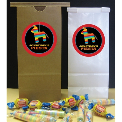 Pinata Theme Fiesta Custom Favor Bag