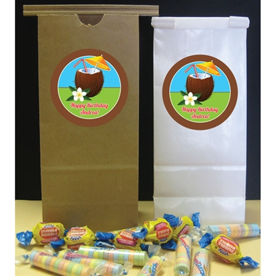 Luau Tropical Drink Party Custom Favor Bag
