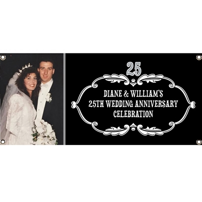 25th Anniversary Vintage Photo Banner