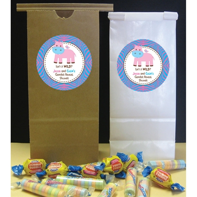 Jungle Theme Gender Reveal Party Favor Bag