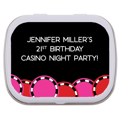 Casino Poker Chips For Her Theme Mint Tin