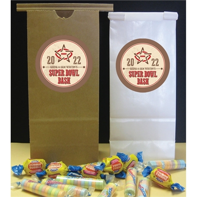 Western Theme Super Bowl Favor Bag