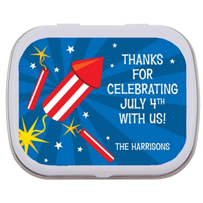Fireworks Theme Mint and Candy Tin