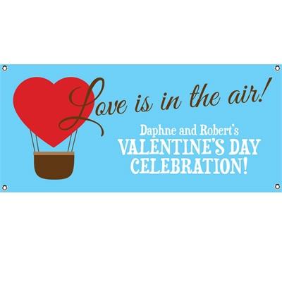 Heart Hot Air Balloon Party Banner