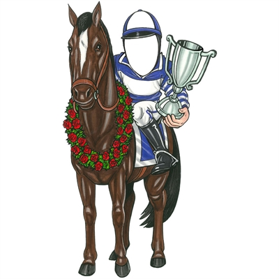 Kentucky Derby Winning Jockey Theme Cutout