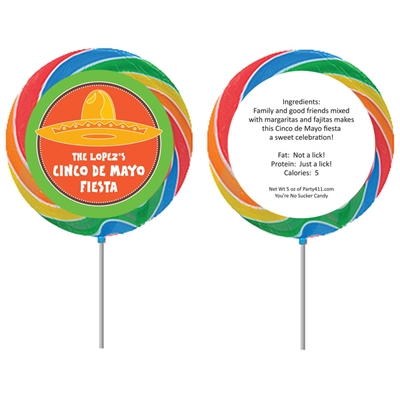 A Mexican Fiesta Theme Lollipop