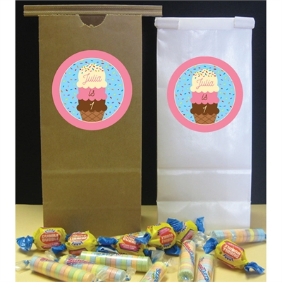 Ice Cream Theme Party Favor Bags