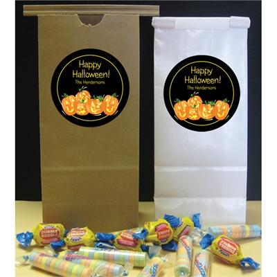 Halloween Fun Pumpkins Party Favor Bag