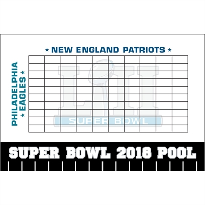 2019 Super Bowl LIII Theme Pool Board