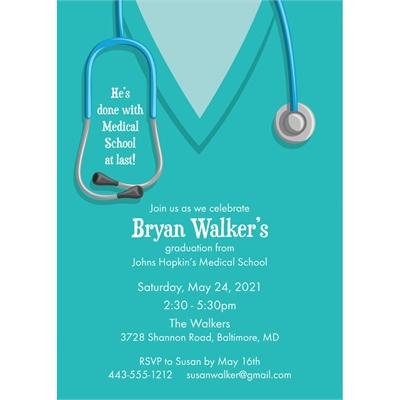 12 Prescription To Party Medical School Nursing Graduation Invitation Home Garden Greeting Cards Supply
