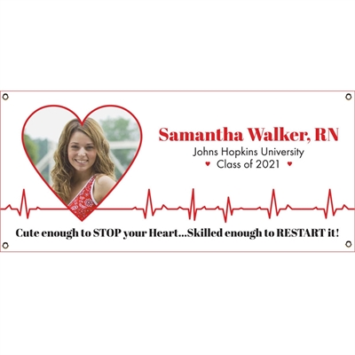 Nursing And Medical School Graduation Ekg Banner