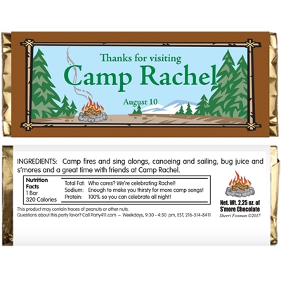 Camping Theme Candy Bar Wrapper