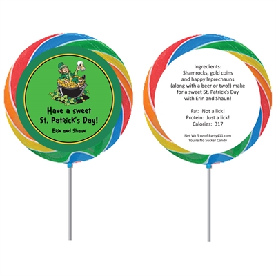 St. Patrick's Day Leprechauns Theme Lollipop