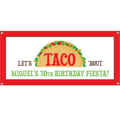 Taco Party Fiesta Banner