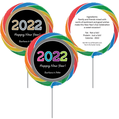 2020 New Year's Celebration Lollipop