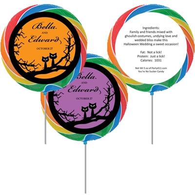 Halloween Wedding Lollipop
