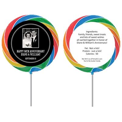 Couple's Photo Custom Lollipop