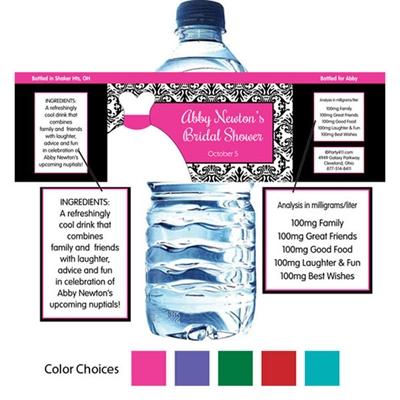 Wedding Dress Theme Water Bottle Label