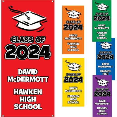 Vertical Graduation Color Choice Theme Banner