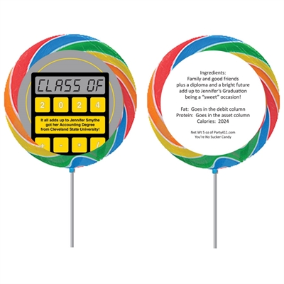 Graduation Calculator Theme Lollipop