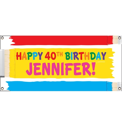Birthday Paint Theme Banner