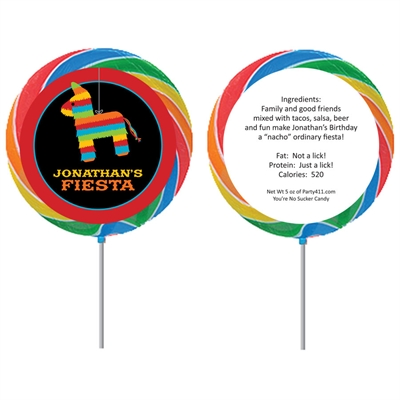 Pinata Theme Fiesta Custom Lollipop