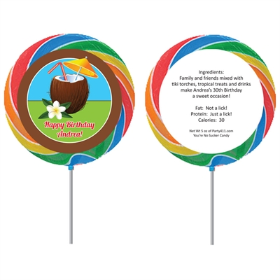 Luau Tropical Drink Party Lollipop