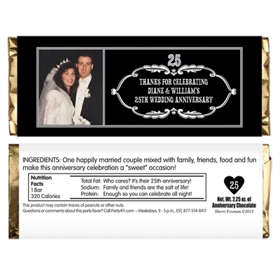 25th Anniversary Vintage Photo Candy Bar Wrapper