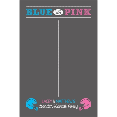 Football Theme Gender Reveal Betting or Sign In Board