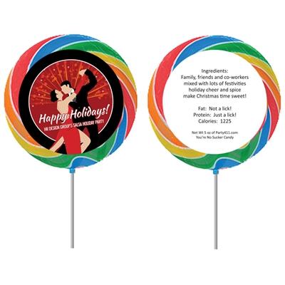 Salsa Dance Party Theme Lollipop