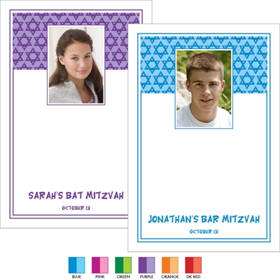 Mitzvah Stars Photo Sign In Board