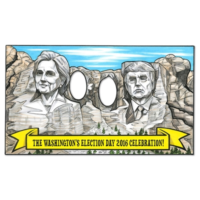 Personalized Mt. Rushmore Election 2016 Party Photo Op