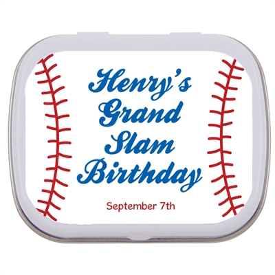 Baseball Party Mint and Candy Tin