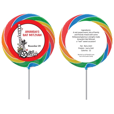 Hollywood Film Reel Custom Lollipop